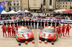 #51 AF Corse Ferrari F458 Italia: Gianmaria Bruni, Giancarlo Fisichella, Matteo Malucelli, #71 AF Corse Ferrari F458 Italia: Olivier Beretta, Toni Vilander, Kamui Kobayashi