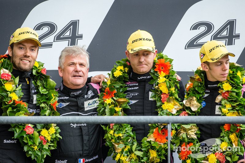 LMP2 podium: second place Olivier Pla, David Heinemeier Hansson, Alex Brundle