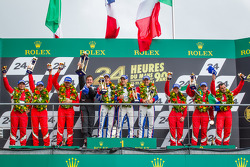 LMGTE Am podium: class winners Raymond Narac, Jean-Karl Vernay, Christophe Bourret, second place Piergiuseppe Perazzini, Darryl O'Young, Lorenzo Casé, third place Jack Gerber, Matt Griffin, Marco Cioci