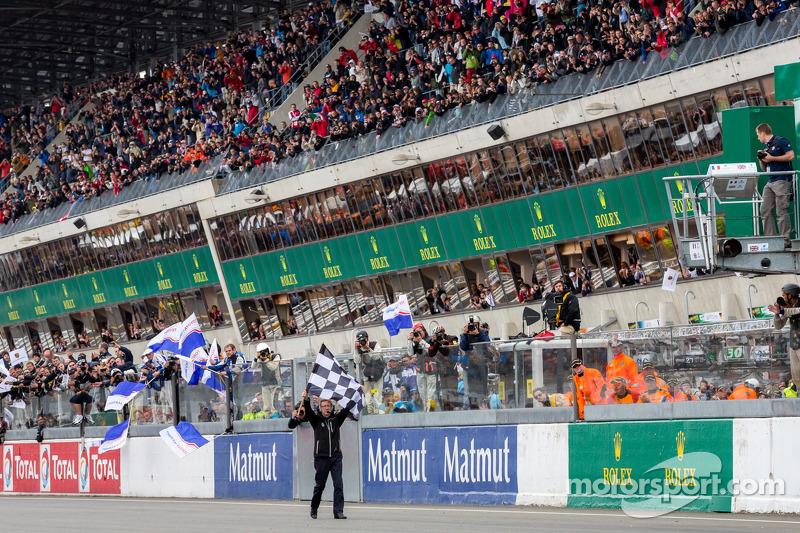 Finishvlag voor 24 uur van Le Mans