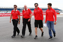 Graeme Lowdon, Marussia F1 Team Chief Executive Officer walks the circuit with Graeme Lowdon, Marussia F1 Team Chief Executive Officer; John Booth, Marussia F1 Team Team Principal; Marc Hynes, Marussia F1 Team Driver Coach and Rodolfo Gonzalez, Marussia F