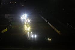 Acción de carrera por la noche