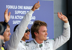 Lewis Hamilton, Mercedes Grand Prix y Nico Rosberg, Mercedes GP