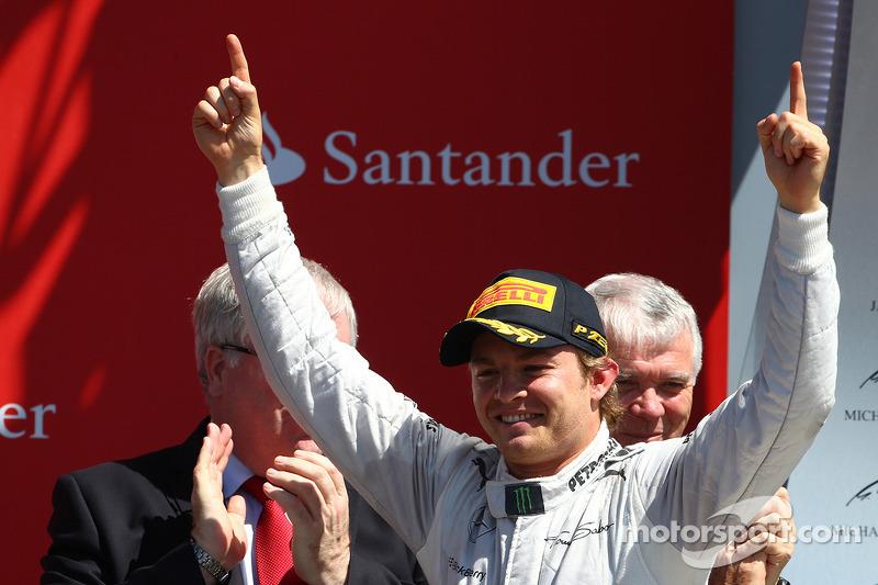 Winst Nico Rosberg, Mercedes AMG F1 W04