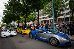 Supercars ready for the parade