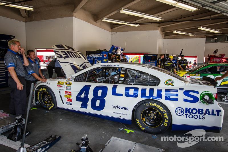 De auto van Jimmie Johnson, Hendrick Motorsports Chevrolet