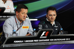 (L to R): Paul Hembery, Pirelli Motorsport Director and Paddy Lowe, Mercedes AMG F1 Executive Direct