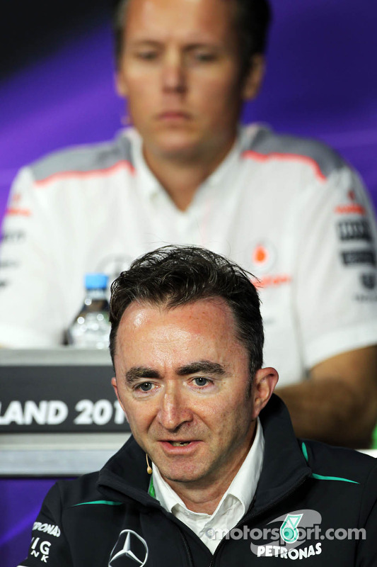 Paddy Lowe, Mercedes AMG F1 Executive Director, in the FIA Press Conference
