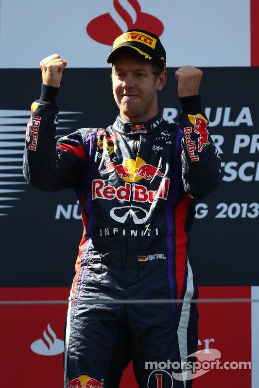 primeiro colocado Sebastian Vettel, Red Bull Racing