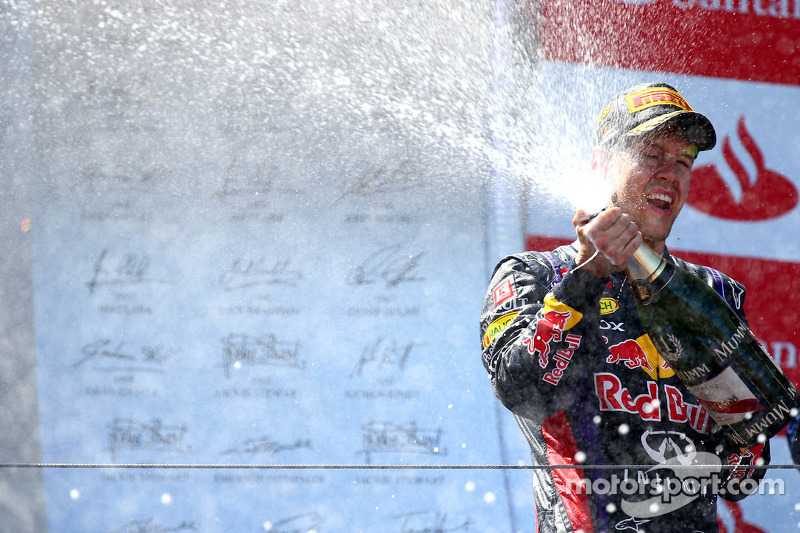 1e plaats for Sebastian Vettel, Red Bull Racing