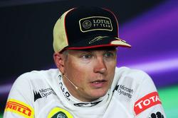 Kimi Raikkonen, Lotus F1 Team in the FIA Press Conference