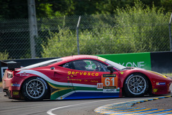 Spin for #61 AF Corse Ferrari F458 Italia: Jack Gerber, Matt Griffin, Marco Cioci