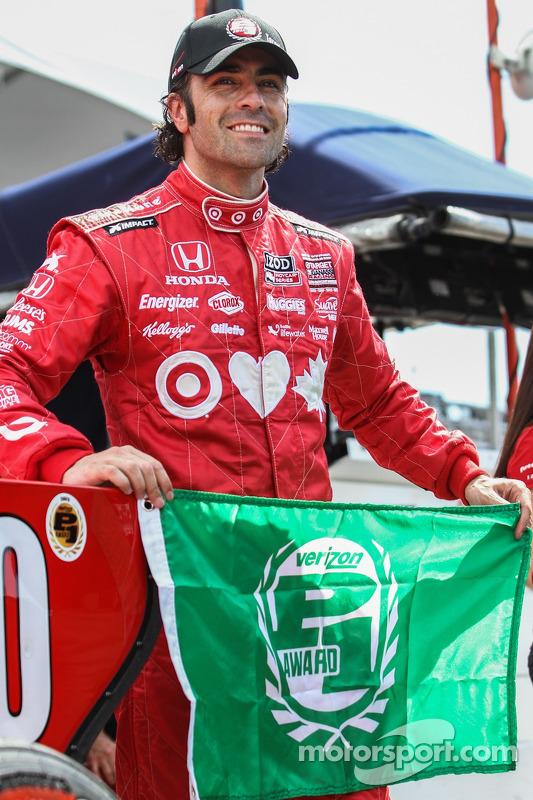 Dario Franchitti, Target Chip Ganassi Racing Honda, celebra