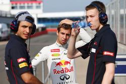 Carlos Sainz Jr., Scuderia Toro Rosso Test Driver with Antonio Felix da Costa, Red Bull Racing Test Driver and Daniil Kvyat, Scuderia Toro Rosso Test Driver