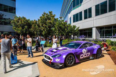 La TRG Aston Martin GT3 en visite chez Yahoo!
