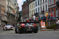 #24 Blancpain Racing, Lamborghini LP560-4: Marc Hayek, Peter Kox, Jos Menten, Henk Haane