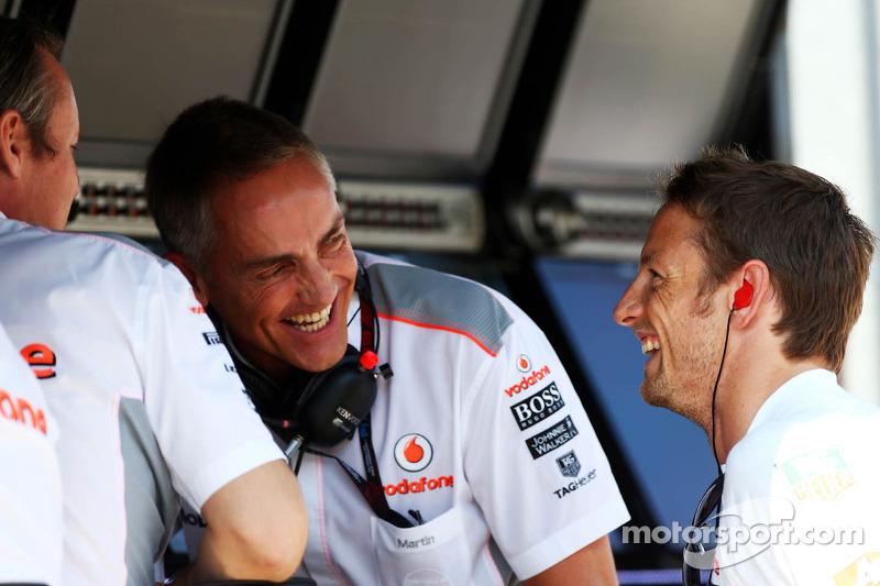 (L naar R): Sam Michael, McLaren Sporting Director met Martin Whitmarsh, McLaren Chief Executive Off