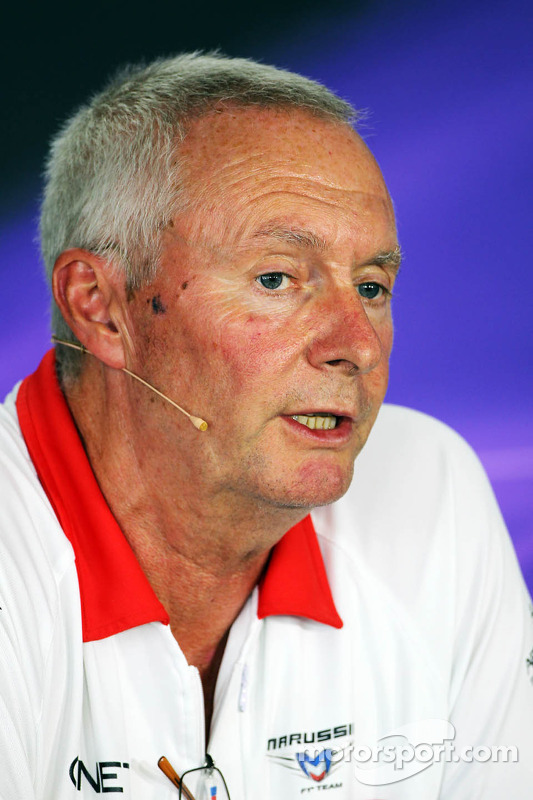 John Booth, Chefe da Marussia F1 Team na entrevista coletiva da FIA