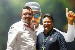 Eric Boullier, directeur de la compétition de McLaren, Michael Andretti