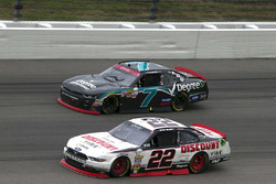Ryan Blaney, Team Penske Ford and Justin Allgaier, JR Motorsports Chevrolet
