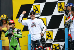 Podium: race winner Nicky Hayden
