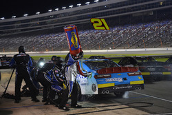 Daniel Hemric, Richard Childress Racing Chevrolet, makes a pit stop