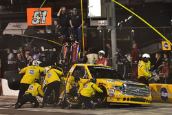Todd Gilliland, Kyle Busch Motorsports Toyota makes a pit stop, Sunoco