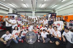 Worldchampion Marc Marquez, Repsol Honda Team, Dani Pedrosa, Repsol Honda Team with the team