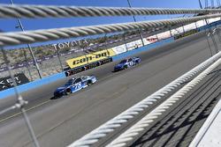 Martin Truex Jr., Furniture Row Racing Toyota, Aric Almirola, Richard Petty Motorsports Ford