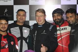 Mika Hakkinen visita a Índia