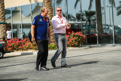 Robert Fearnley, Sahara Force India F1 Team Deputy Team Principal with Martin Brundle, Sky TV