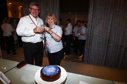 Ross Brawn, Managing Director of Motorsports, FOM, Penny Whittaker, Sports Administrator, FOM