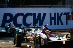 Oliver Turvey, NIO Formula E Team, leads Sam Bird, DS Virgin Racing