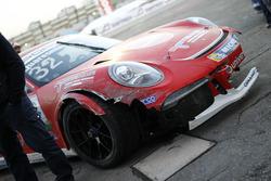 La Porsche 911 GT3 Cup incidentata di Gianmarco Quaresmini, Dinamic Motorsport