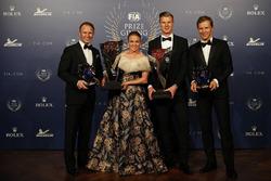 Petter Solberg con Pernilla Solberg, Johan Kristoffersson y Mattias Ekström