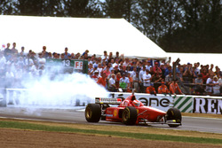 Eddie Irvine, Ferrari F310 with broken engine