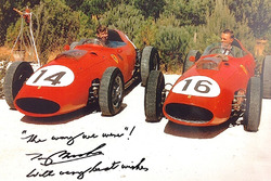 Tony Brooks en Dan Gurney in Ferrari 246 Dino's 1959
