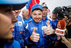 Le vainqueur camions Eduard Nikolaev, Team KAMAZ Master
