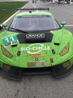 The Lamborghini Huracan winning car in GTD Class,