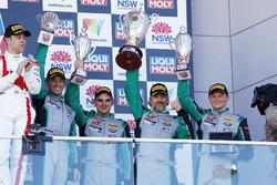 Podium: third place #540 Black Swan Racing Porsche 911 GT3 R: Tim Pappas, Jeroen Bleekemolen, Luca Stolz, Marc Lieb
