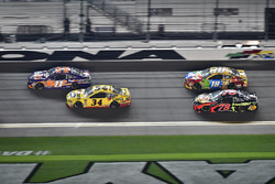 Denny Hamlin, Joe Gibbs Racing Toyota, Michael McDowell, Front Row Motorsports Ford Fusion, Kyle Busch, Joe Gibbs Racing Toyota, Martin Truex Jr., Furniture Row Racing Toyota