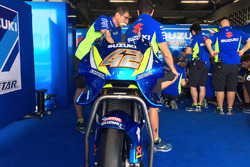 La moto d'Álex Rins, Team Suzuki MotoGP