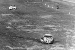 David Pearson and Richard Petty crash after the finish