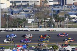 Brendan Gaughan, Beard Motorsports Chevrolet Camaro and Ricky Stenhouse Jr., Roush Fenway Racing Ford Fusion