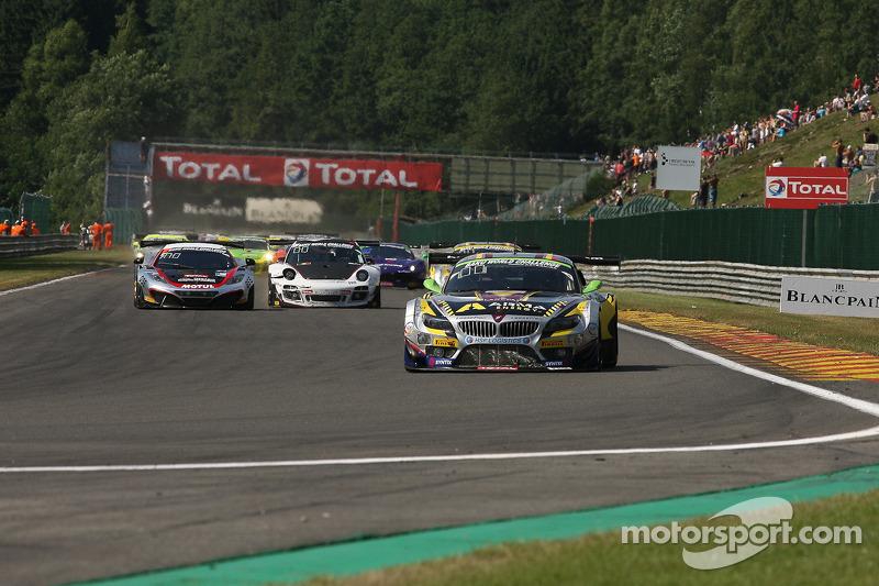 Eerste ronde; #4 Marc VDS Racing Team BMW Z4: Nicky Catsburg, Henri Moser, Markus Palttala