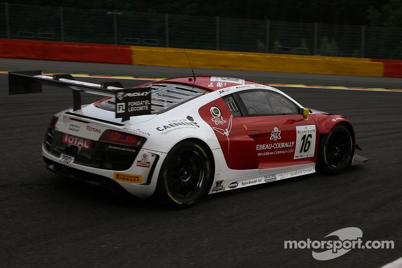 #16 Phoenix Racing Audi R8 LMS Ultra: Enzo Ide, Anthony Kumpen, Markus Winkelhock