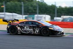 #24 Blancpain Racing Lamborghini LP560-4: Marc Hayek, Peter Kox, Jos Menten, Henk Haane