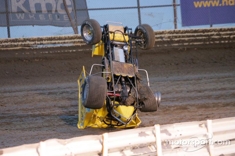 Crash voor Rocky Borys