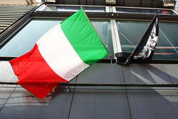 Italian flag in the paddock
