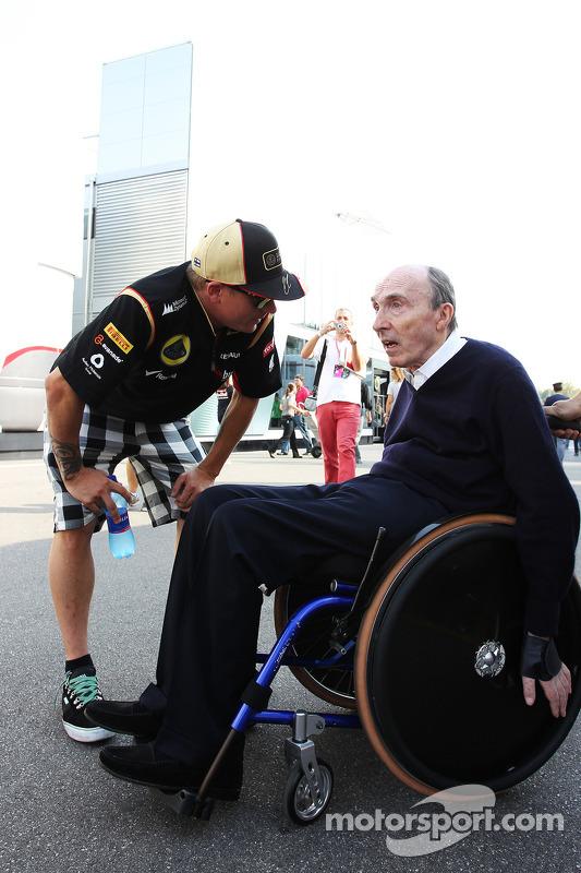 Kimi Raikkonen, Lotus F1 Team com Frank Williams, Proprietário da Williams Team